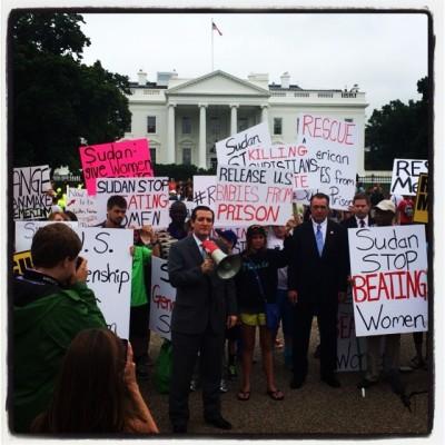 Senator Ted Cruz Free Meriam Ibrahim protest